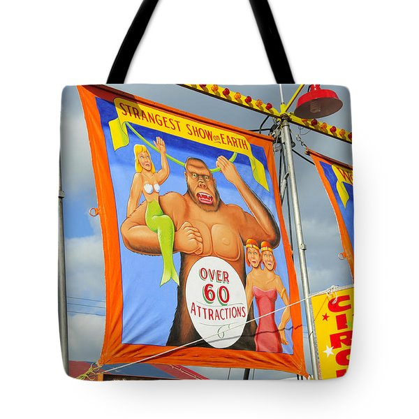 Circus Attractions Tote Bag by David Lee Thompson