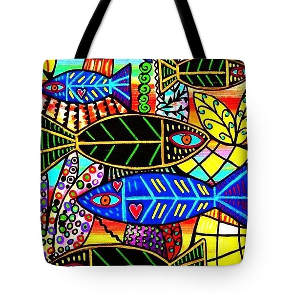 Citrine Coral Fish Tote Bag