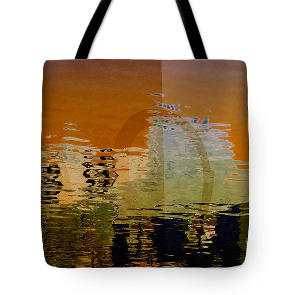 City Abstract Tote Bag by Elaine Manley