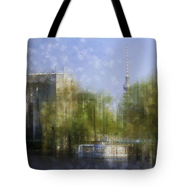 City-art Berlin River Spree Tote Bag by Melanie Viola