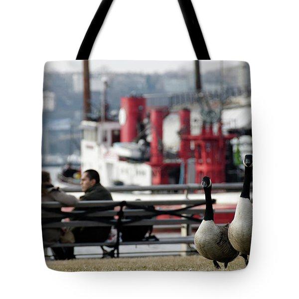 City Geese Tote Bag