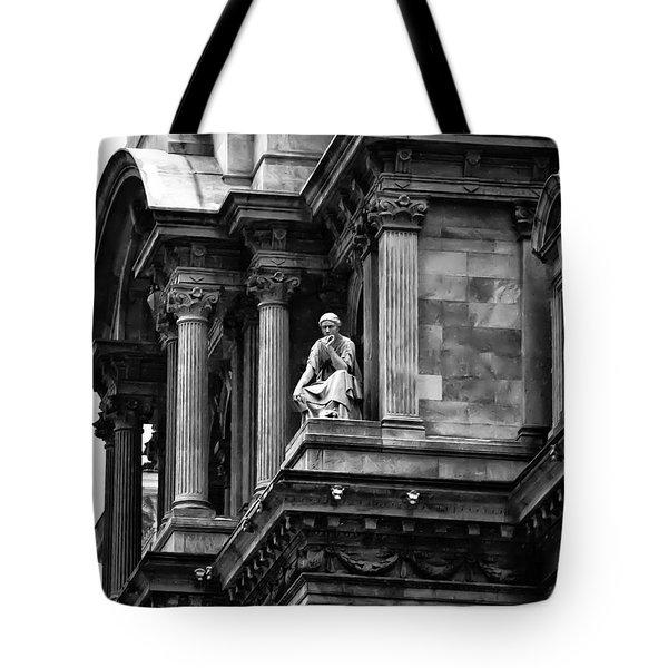 City Hall Edifice - Philadelphia Tote Bag by Bill Cannon