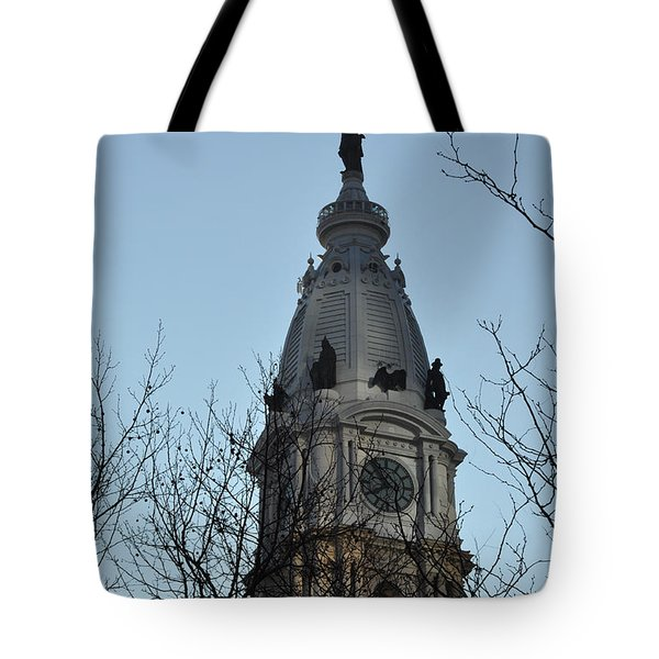 City Hall Tower Philadelphia Tote Bag by Bill Cannon