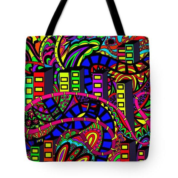 City Of Life Tote Bag by Karen Elzinga