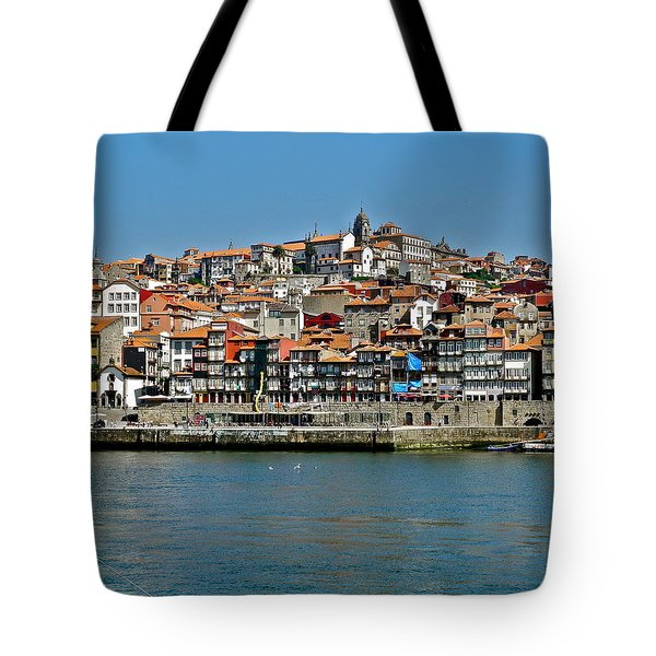 Tote Bag featuring the photograph City On A Hill On A River by Kirsten Giving