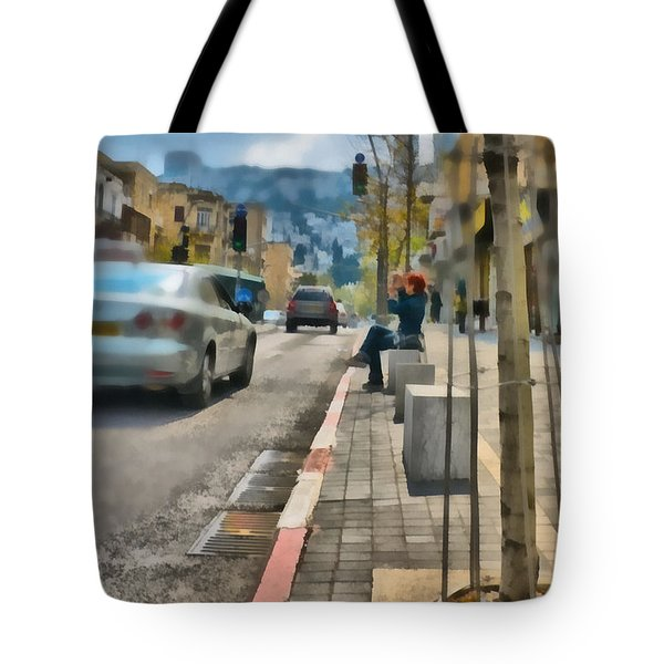 Tote Bag featuring the photograph City Scene by Michael Goyberg
