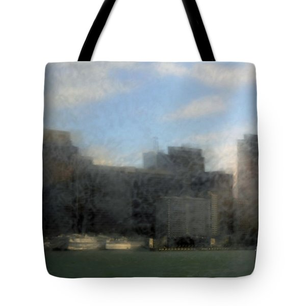 City View Through Window 3 Tote Bag by Catherine Lau