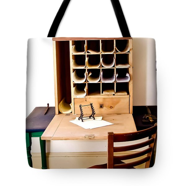 Civil War Desk Tote Bag by Trish Tritz