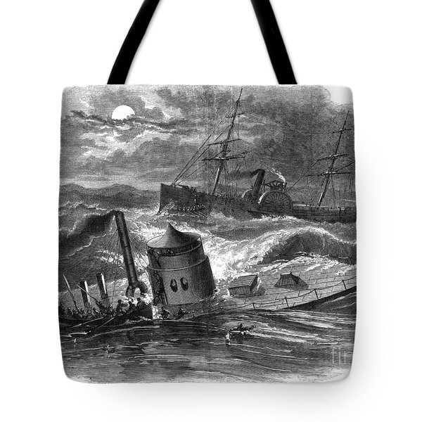 Civil War: Monitor Sinking Tote Bag by Granger