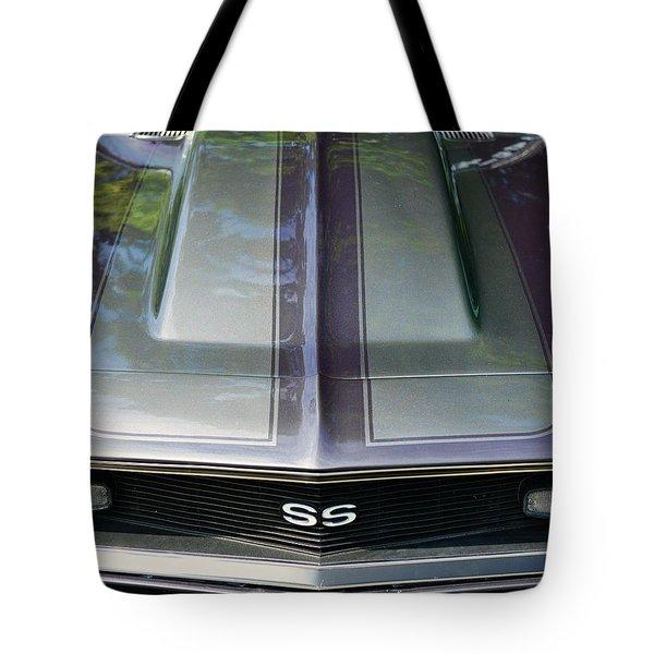 Classic Camaro Ss Hood Cowl Tote Bag by Paul Ward