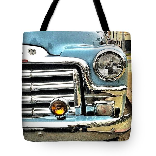 Classic Car Headlamp Tote Bag