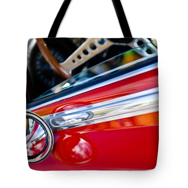 Classic Red Car Artwork Tote Bag