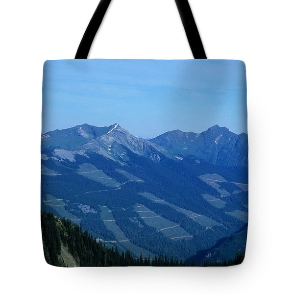 Clear Cut Logging In The Forest Hill Tote Bag