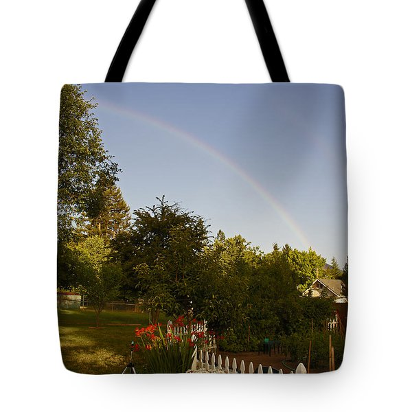 Clear Sky Rainbow Tote Bag by Mick Anderson