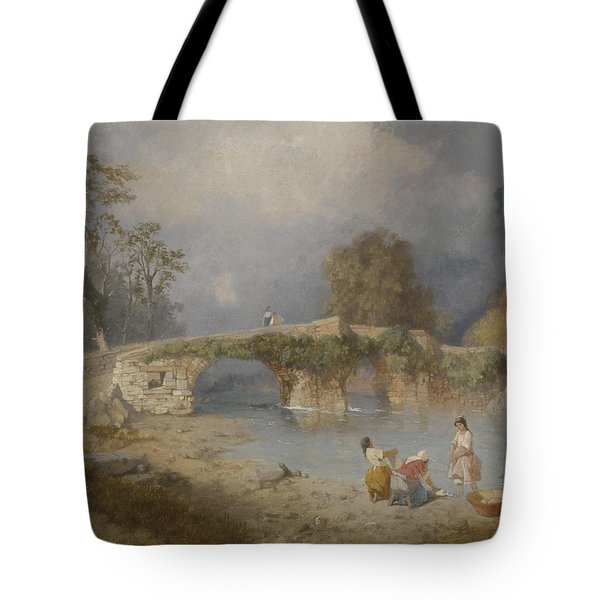 Clearing Up For Fine Weather Beddgelert North Wales 1867 Tote Bag by James Baker Pyne
