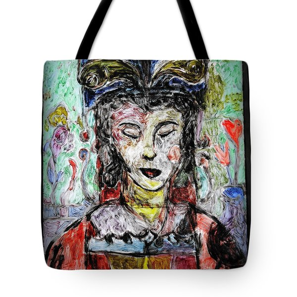 Cleopatra In Spring Tote Bag by Mykul Anjelo