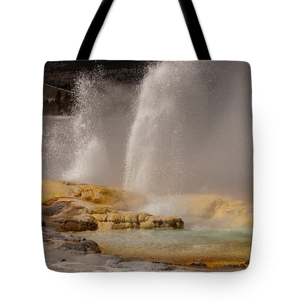 Clepsydra Geyser Yellowstone National Park Tote Bag