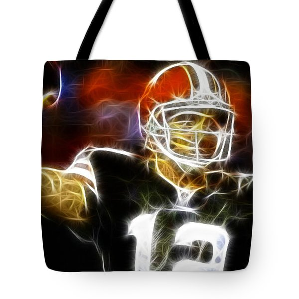 Cleveland Browns Colt Mccoy Tote Bag by Paul Van Scott