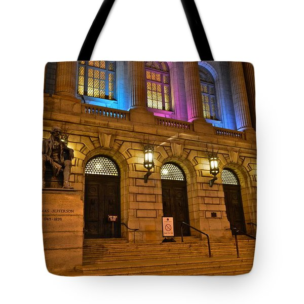 Cleveland Court House Tote Bag by Frozen in Time Fine Art Photography
