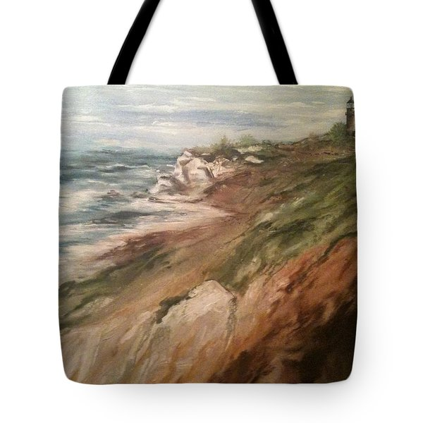 Cliff Side - Newport Tote Bag