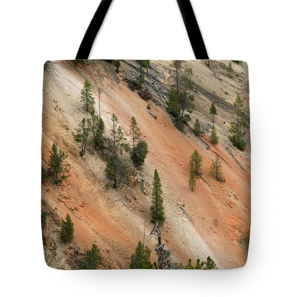 Cliff Side Grand Canyon Colors Vertical Tote Bag by Living Color Photography Lorraine Lynch