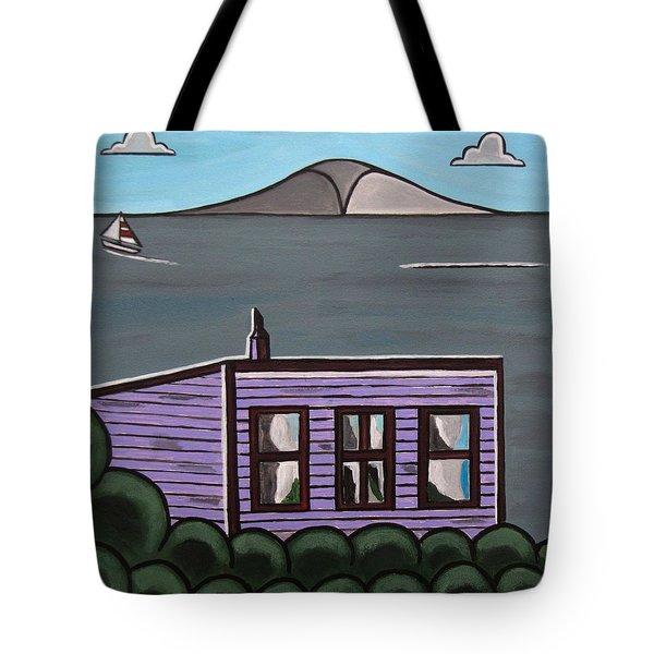 Cliff Top Tote Bag by Sandra Marie Adams