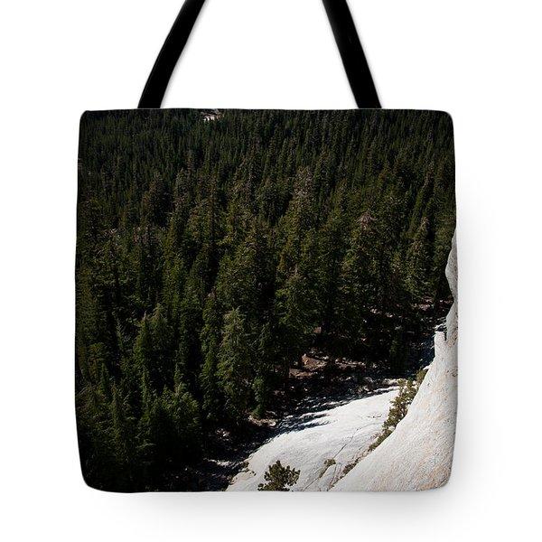 Climber In Yosemite Tote Bag