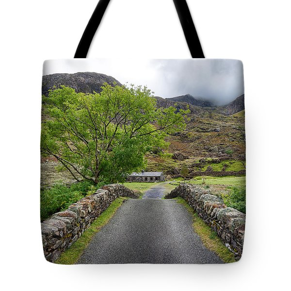 Climbers Lodge Tote Bag by Adrian Evans
