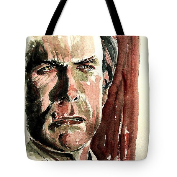Clint Eastwood Tote Bag by Francoise Dugourd-Caput