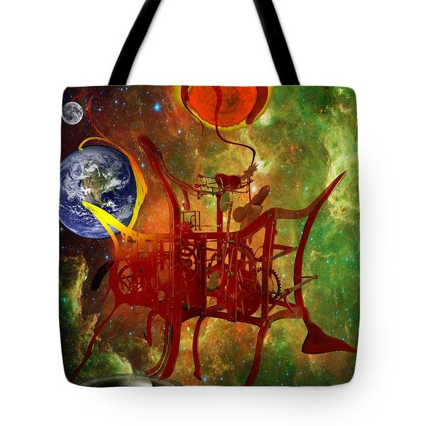 Clock Of Universe Tote Bag by Helmut Rottler