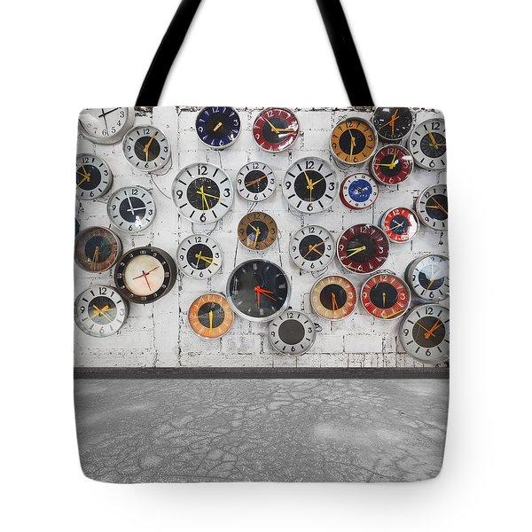 Clocks On The Wall Tote Bag