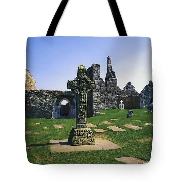 Clonmacnoise, Co Offaly, Ireland, West Tote Bag by The Irish Image Collection