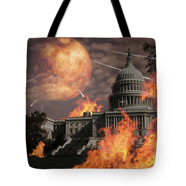 Close Approach Of Nibiru, Planet X Tote Bag by Ron Miller