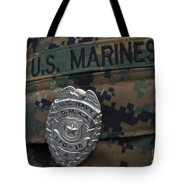 Close-up Of A Duty Master-at-arms Badge Tote Bag by Stocktrek Images