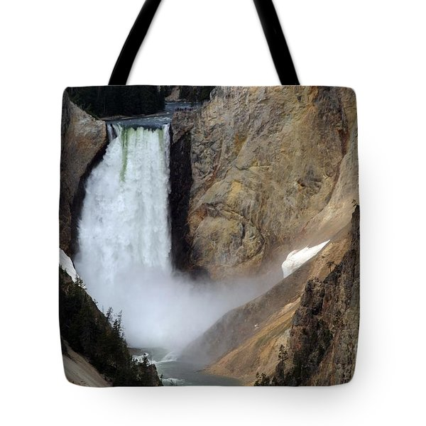 Close Up Of Lower Falls Tote Bag by Living Color Photography Lorraine Lynch