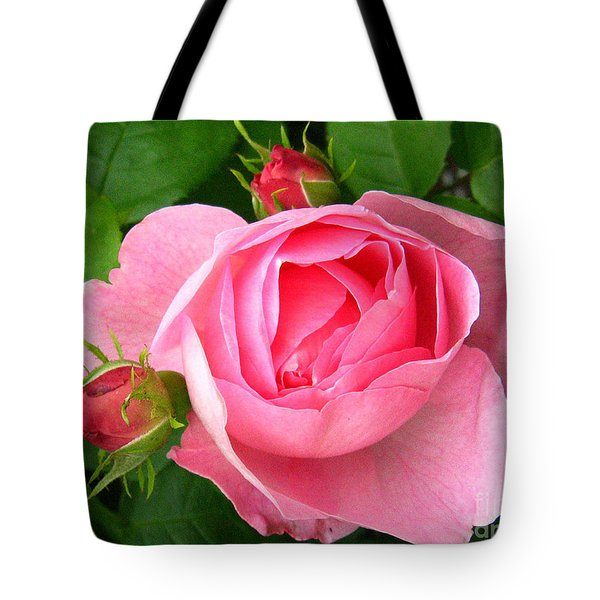 Rose And Rose Buds Tote Bag