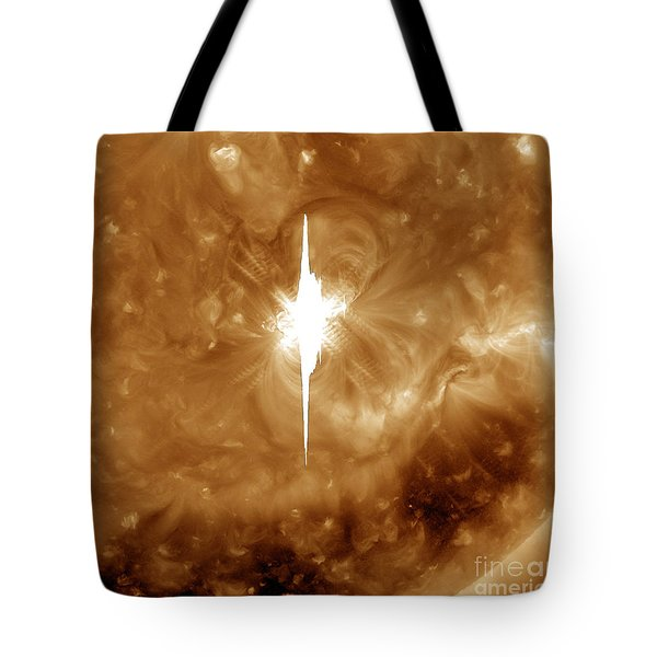 Close-up View Of A Massive X2.2 Solar Tote Bag by Stocktrek Images