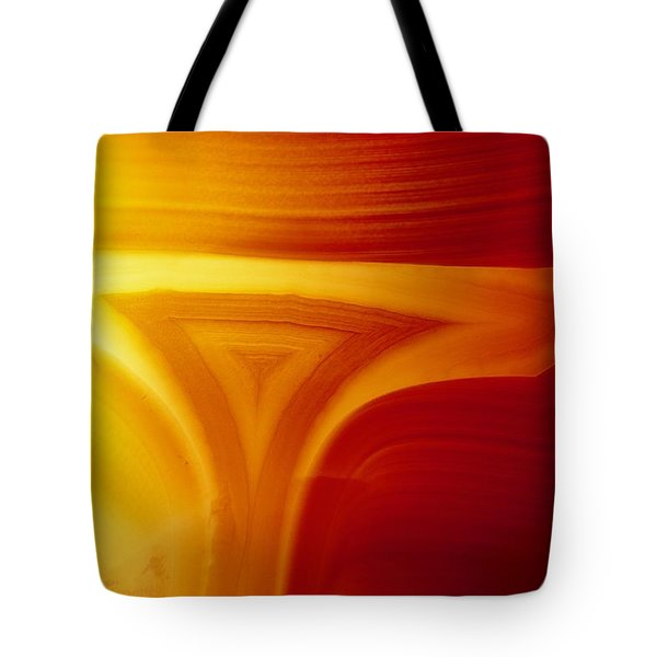 Close View Of Red Agate With Lighting Tote Bag