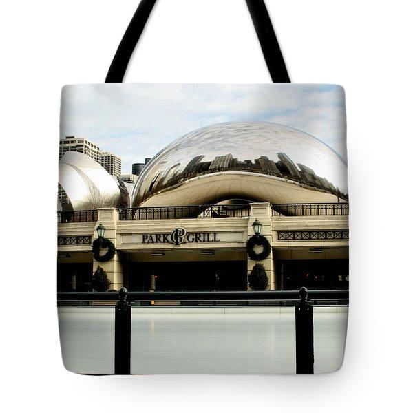 Cloud Gate - 2 Tote Bag by Ely Arsha
