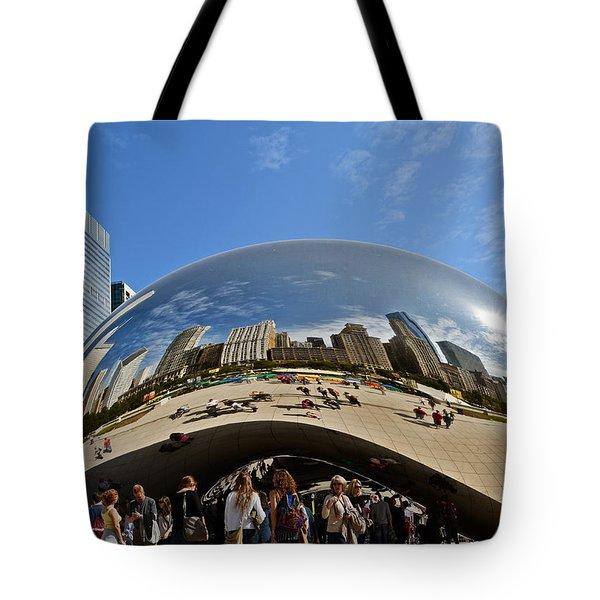 Cloud Gate - The Bean - Millennium Park Chicago Tote Bag by Christine Till
