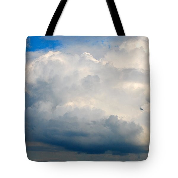 Cloud Over Rock Lake Tote Bag by Janice Adomeit