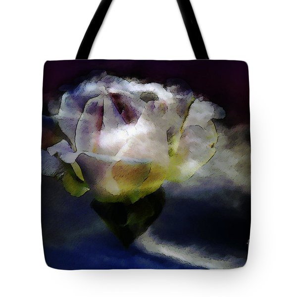 Tote Bag featuring the photograph Cloud Rose Painterly by Clayton Bruster
