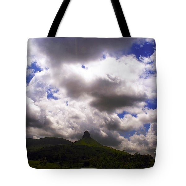 Clouded Hills At Nasik India Tote Bag by Sumit Mehndiratta