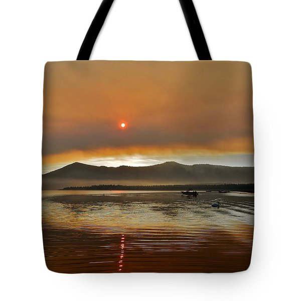 Clouds And Sun In A Smoky Sky Tote Bag by Kirsten Giving