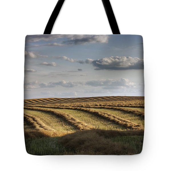 Clouds Over Canola Field On Farm Tote Bag by Dan Jurak