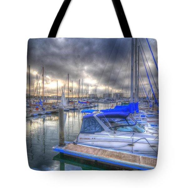 Clouds Over Marina Tote Bag