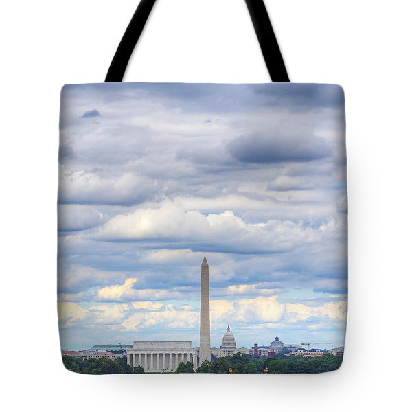 Clouds Over Washington Dc Tote Bag