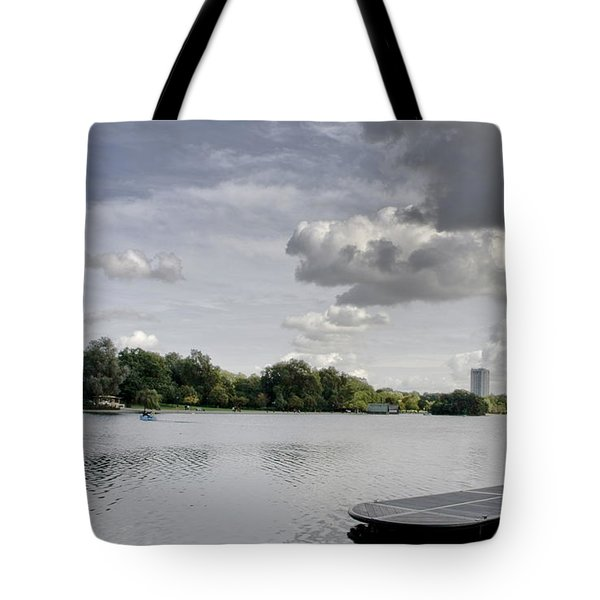 Tote Bag featuring the photograph Cloudy Hyde Park by Maj Seda