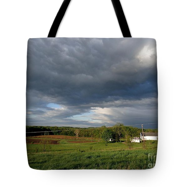cloudy with a Chance of Paint 2 Tote Bag by Trish Hale