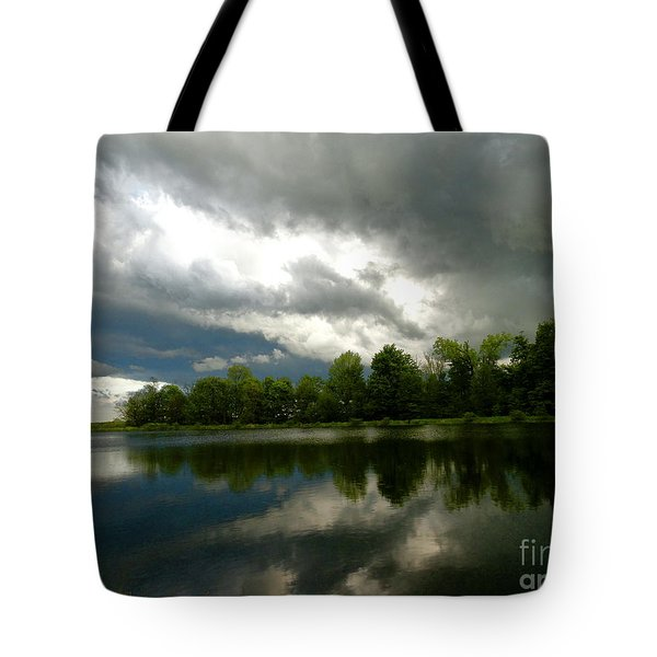 cloudy with a Chance of Paint 4 Tote Bag by Trish Hale
